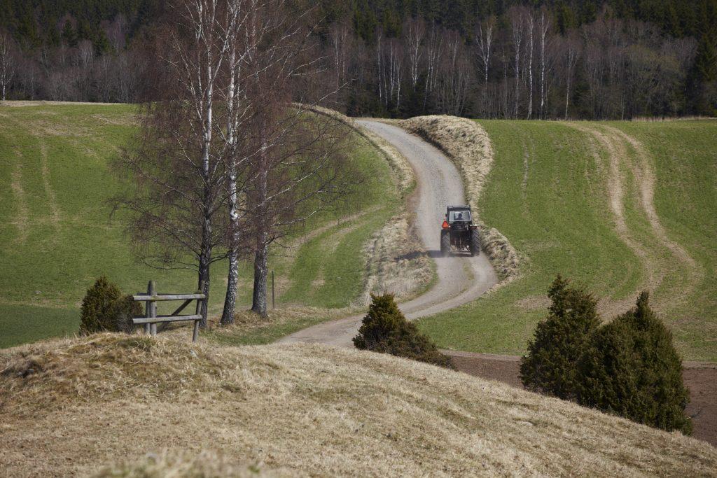 Landsbygd i Knätte. Foto: Jan Töve