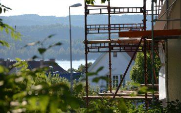 Byggställning vid ett hus i Ulricehamn. Foto: Charbel Sader