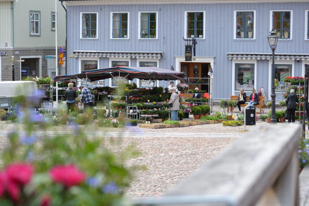 Stora torget i Ulricehamn. Foto: Ulricehamns kommun