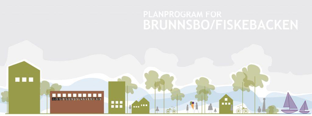 Bild på framsidan av dokumentet Planprogram Brunnsbo-Fiskebacken