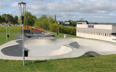 Bild på delar av skatebordparken