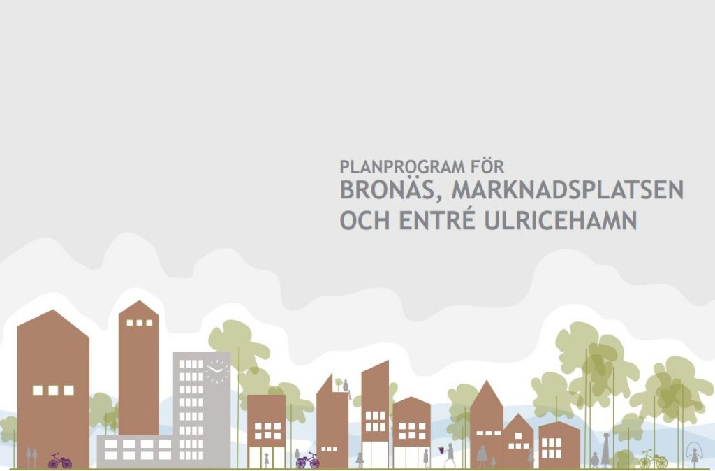 Bild på framsidan av dokumentet Framsida planprogram Bronäs, Marknadsplatsen och entré Ulricehamn