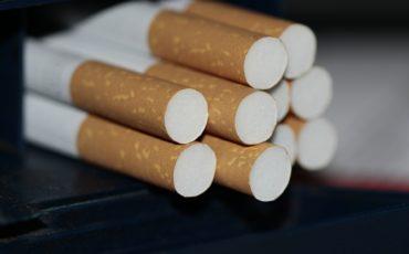 Cigaretter, närbild på filtret