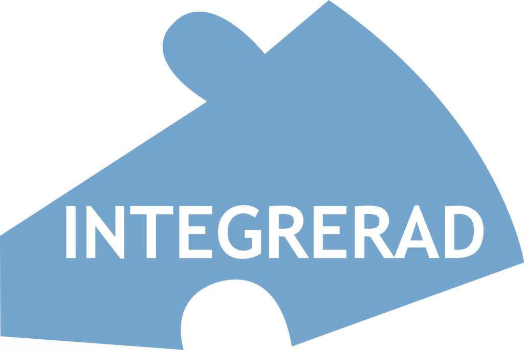 En blå pusselbit med texten Integrerad
