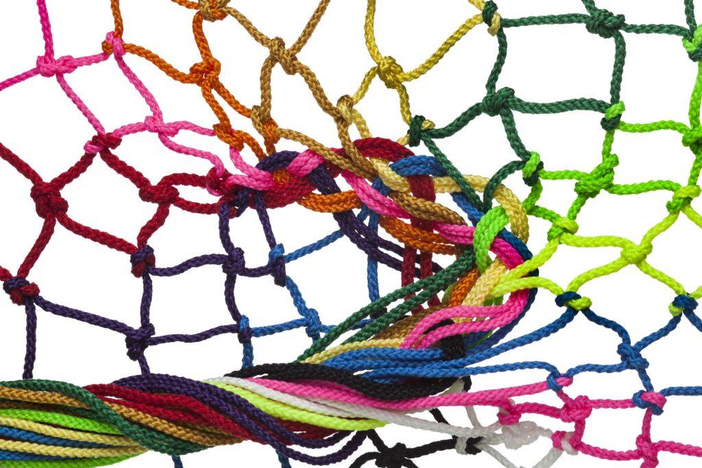 En bild på ett nät