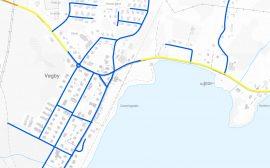 Karta över hastighetsförändringar i Vegby